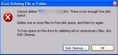 Cant-Delete-A-File-Not-Enough-Room