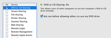 Mac Remote CD Share