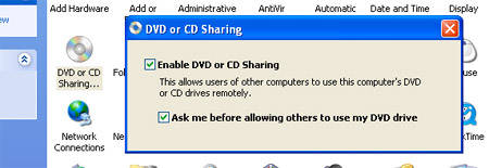 Windows Remote CD Share