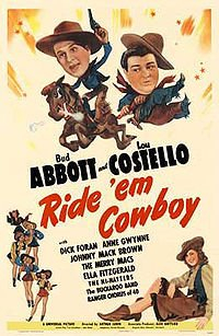 Abbott and Costello Ride Em Cowboy